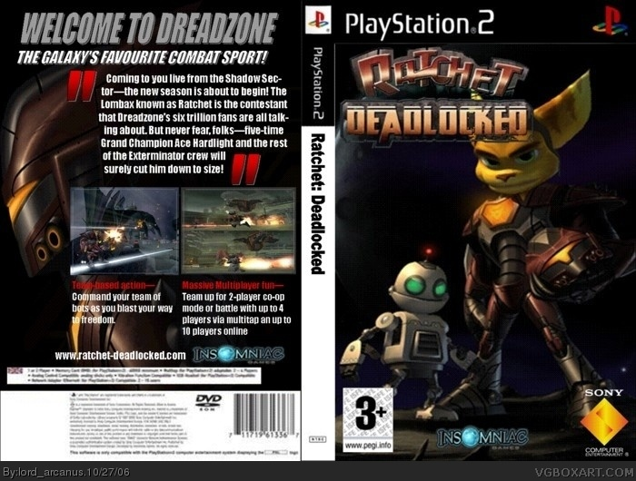Ratchet Deadlocked Playstation 2 Box Art Cover By Lordarcanus