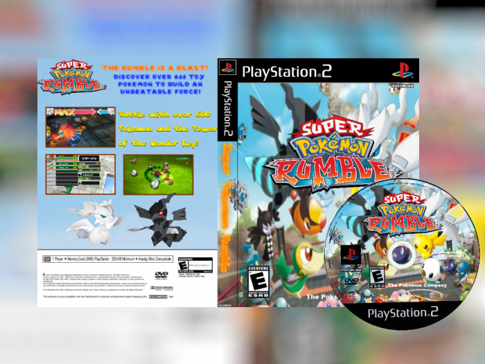 Super Pokemon Rumble Playstation 2 Box Art Cover By