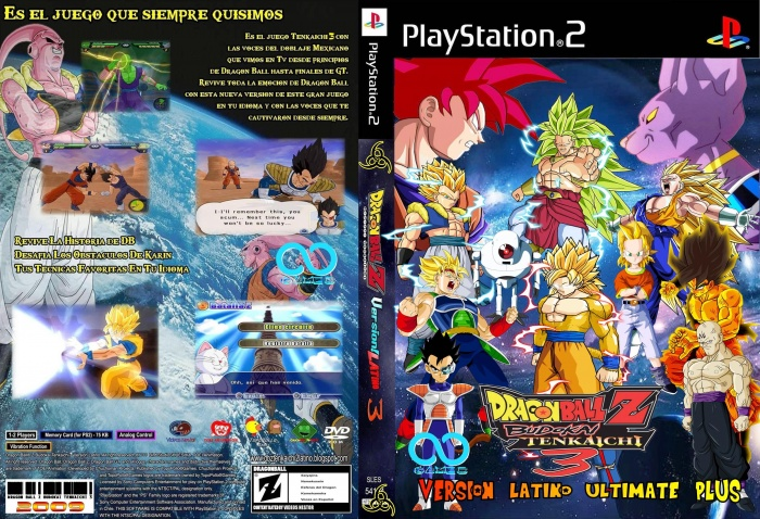 Dragon Ball Z: Budokai Tenkaichi 3 Latino Ultimate Plus box art cover