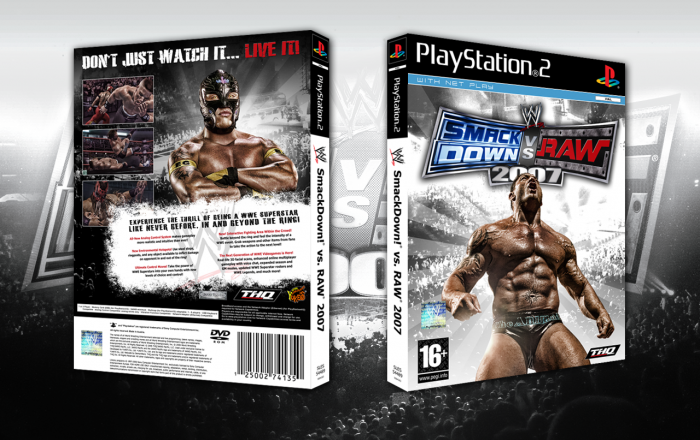 Wwe Smackdown Vs Raw 2007 Playstation 2 Box Art Cover By