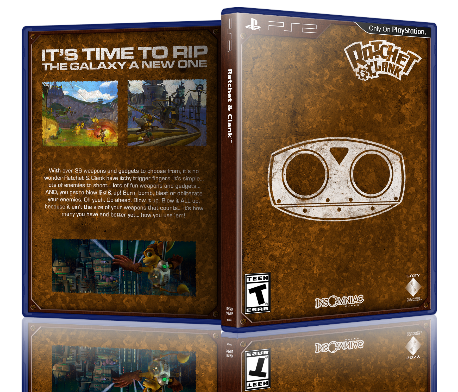 Ratchet & Clank box cover