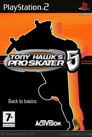 PlayStation 2 » Tony Hawk's Pro Skater 5 Box Cover humor