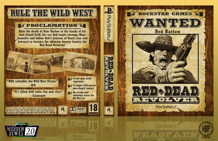 Red Dead Revolver box art cover