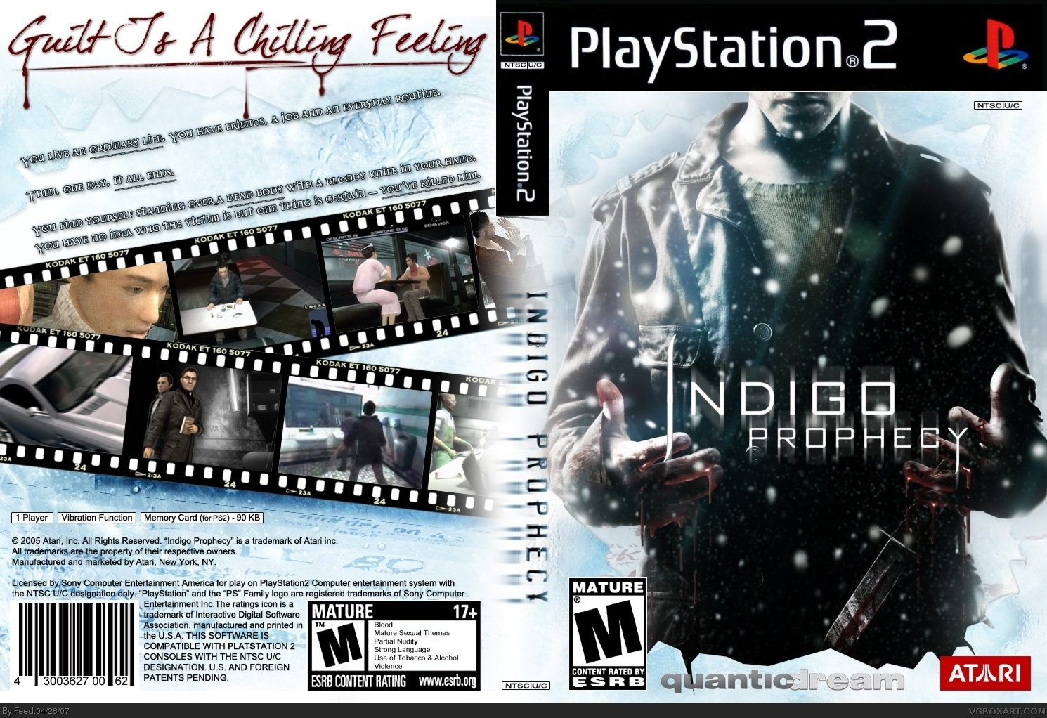 Indigo Prophecy PlayStation 2 Box Art Cover by Feed