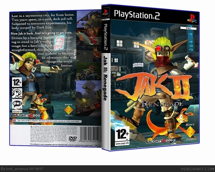 Jak Ii Playstation 2 Box Art Cover By Lordarcanus