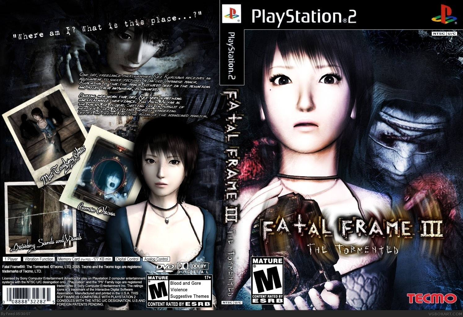 Fatal Frame III: The Tormented PlayStation 2 Box Art Cover by Feed