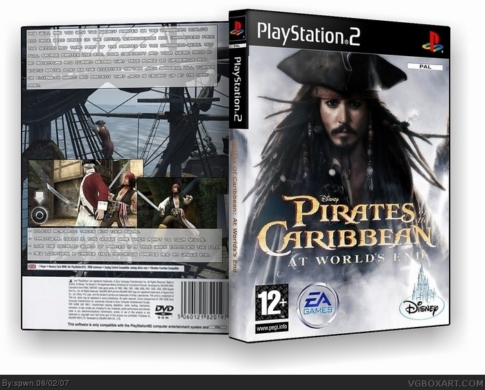 Pirates of the caribbean: At world's end box art cover