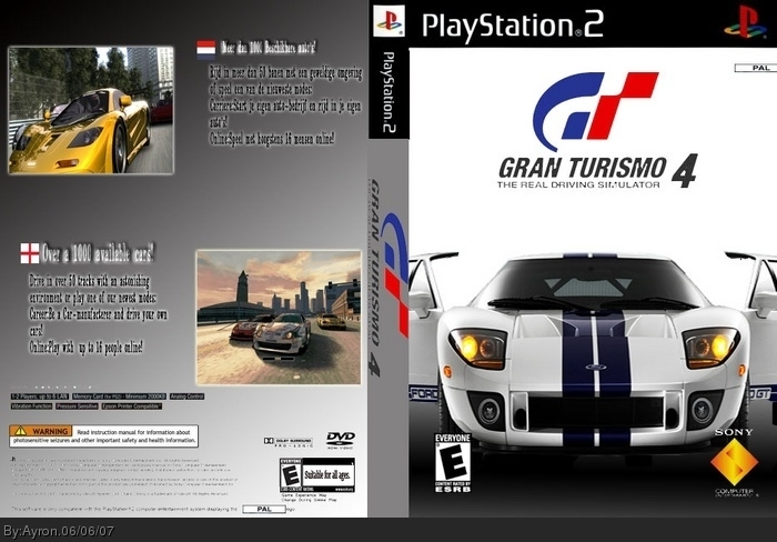 Gran Turismo 4 Box Art Cover