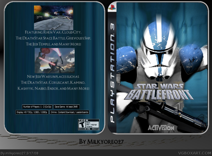 PlayStation 3 » Star Wars: Battlefront III Box Cover