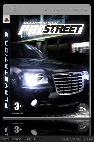 Need For Speed Pro Street box cover