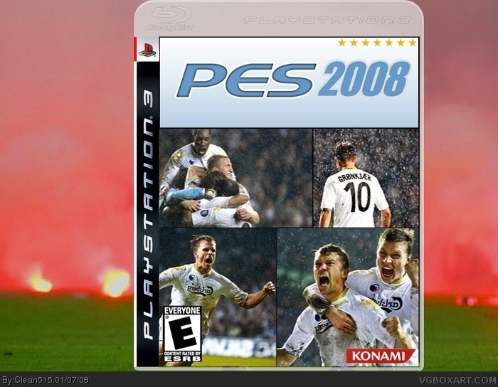 Pro Evolution Soccer 2008 PlayStation 3 Box Art Cover by