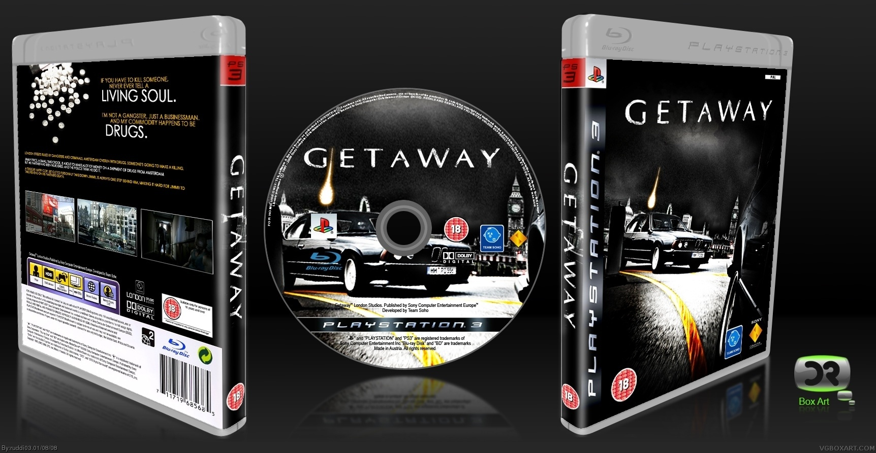 Getaway Playstation 3 Box Art Cover By Ruddi03