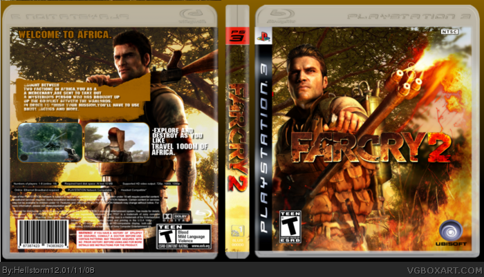 FarCry 2 PlayStation 3 Box Art Cover by Hellstorm12