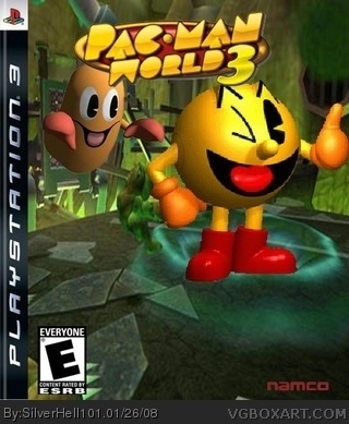 Pacman World 3 box cover