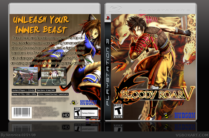 Bloody Roar 5 box art cover