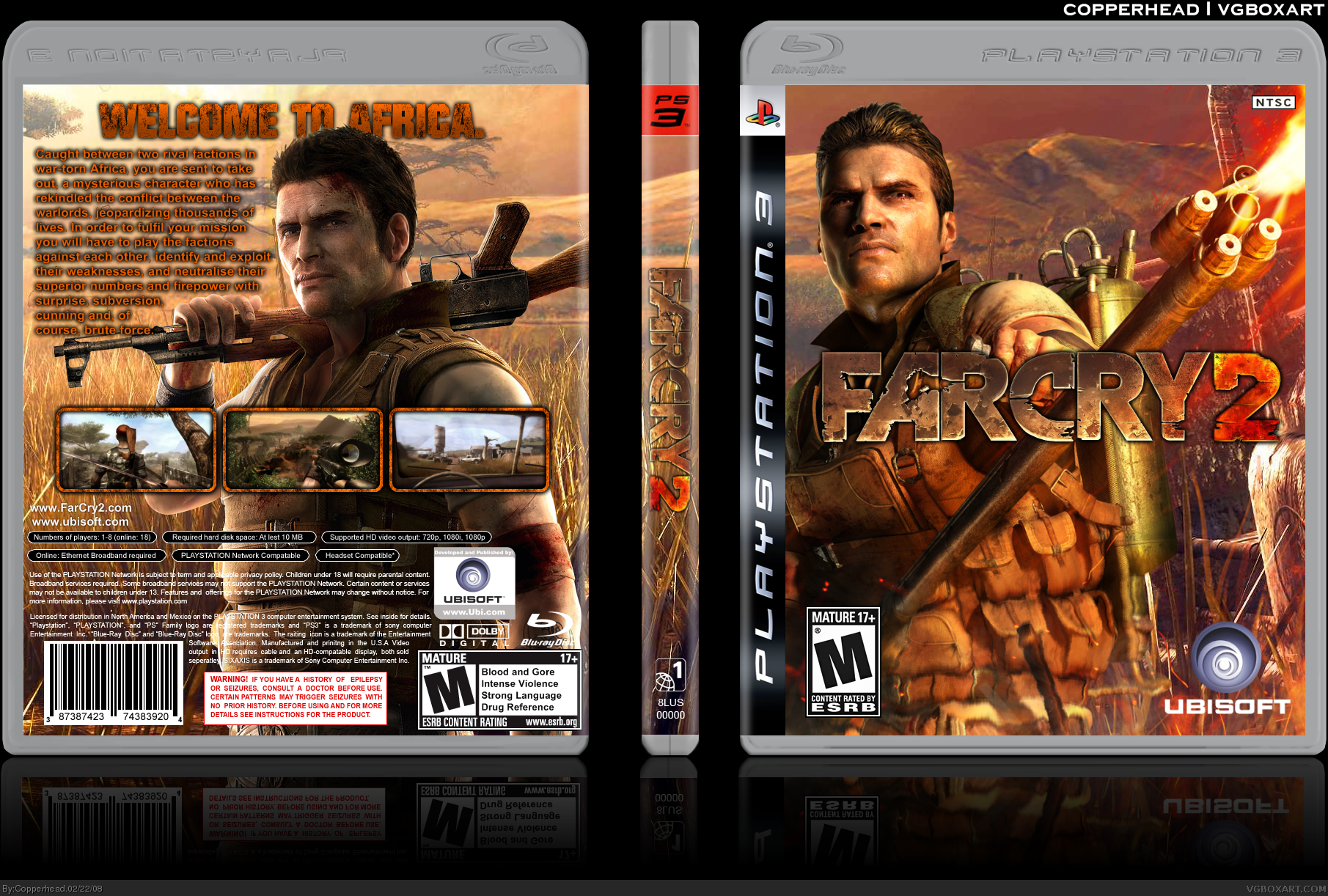 Viewing Full Size Far Cry 2 Box Cover