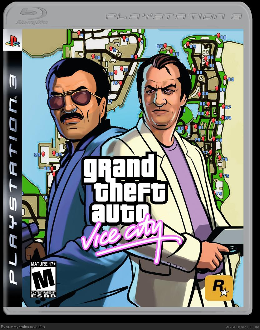 grand theft auto vice city playstation 3 box art cover by. Black Bedroom Furniture Sets. Home Design Ideas