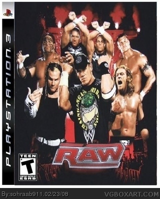 WWE RAW box cover