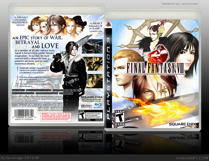 Final Fantasy Viii Remake Ps3 Final Fantasy Viii Box Art