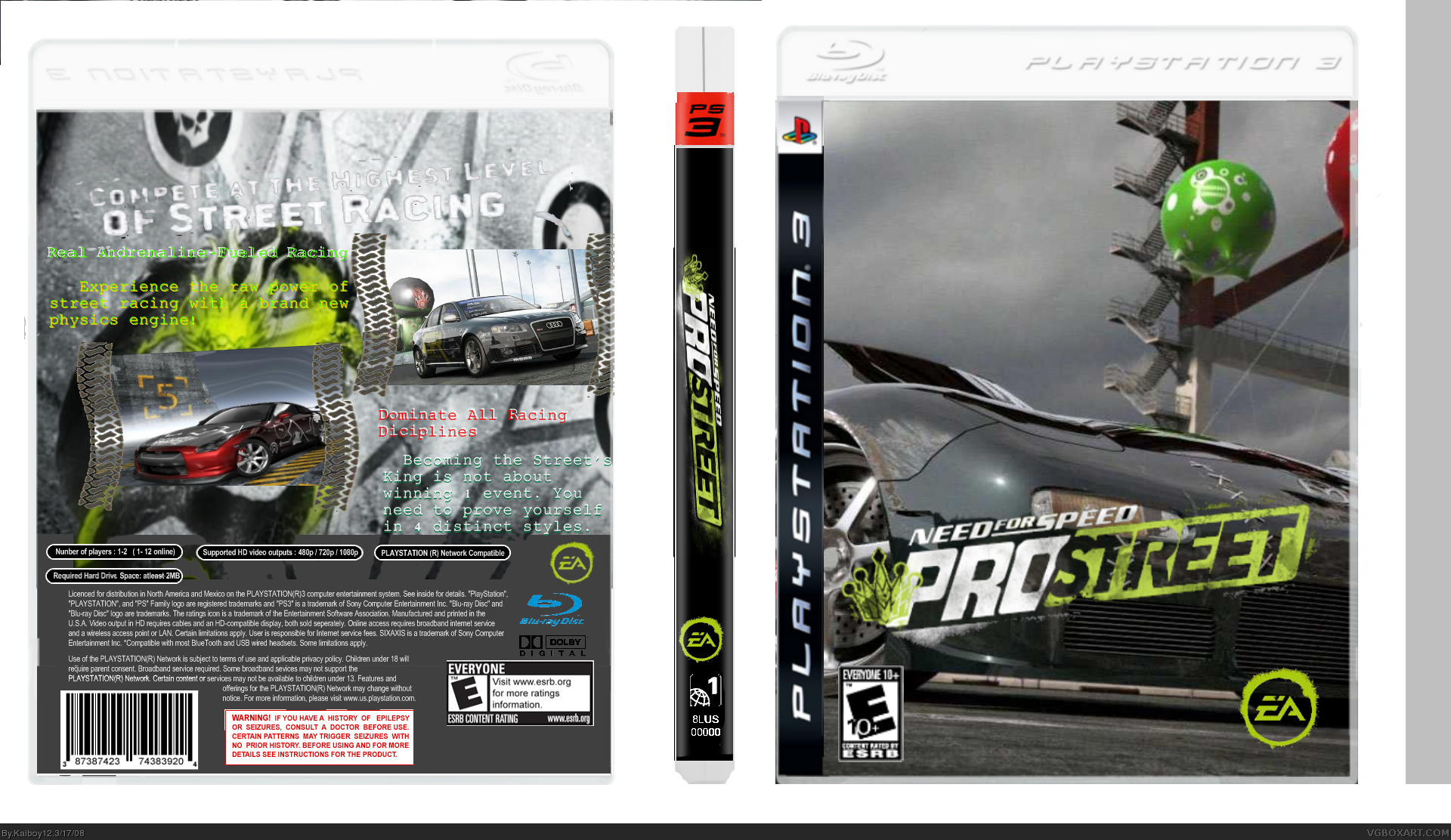 Need For Speed Pro Street PlayStation 3 Box Art Cover by ...