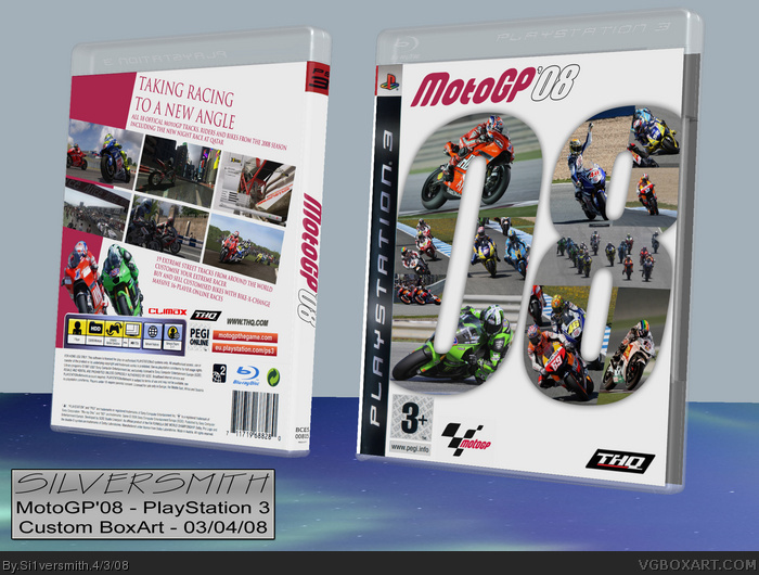 MotoGP'08 box art cover