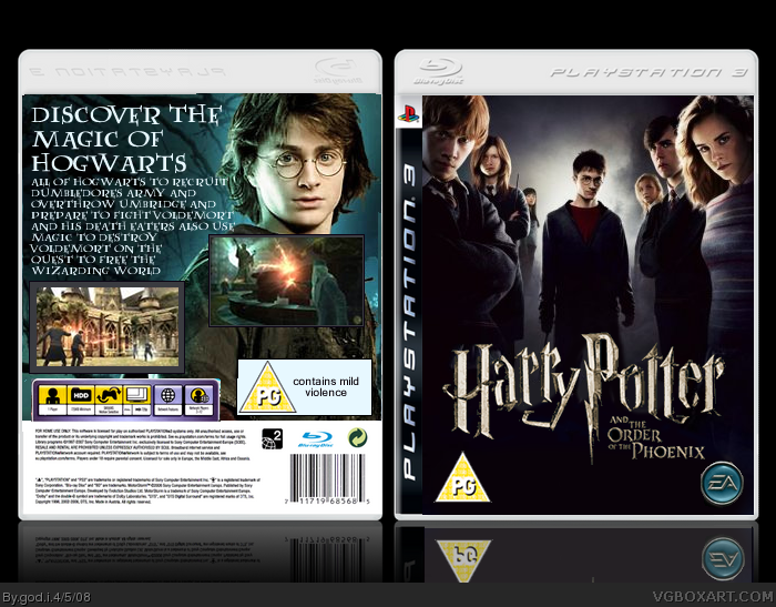 Harry Potter and the Order of the Phoenix box cover