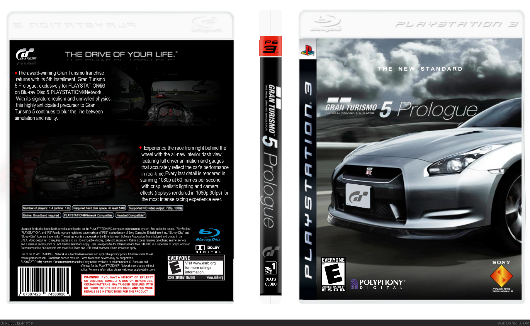 gran turismo 5 prologue playstation 3 box art cover by. Black Bedroom Furniture Sets. Home Design Ideas