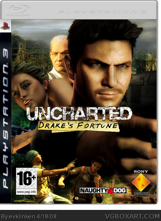 Uncharted: Drake's Fortune PlayStation 3 Box Art Cover by ...  Uncharted: Drak...