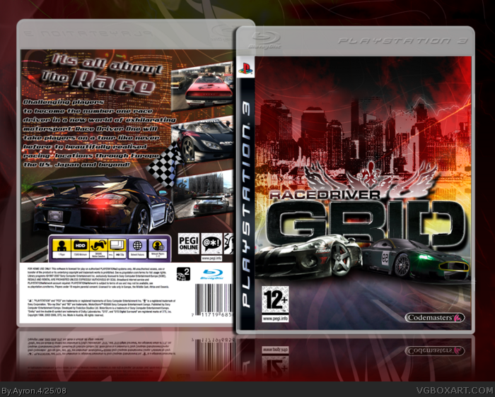 PlayStation 3 » Race Driver: Grid Box Cover