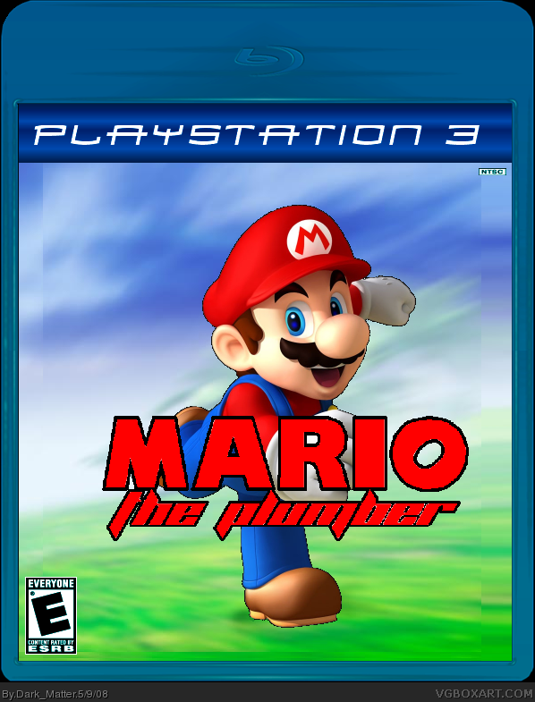mario the plumber playstation 3 box art cover by dark matter. Black Bedroom Furniture Sets. Home Design Ideas