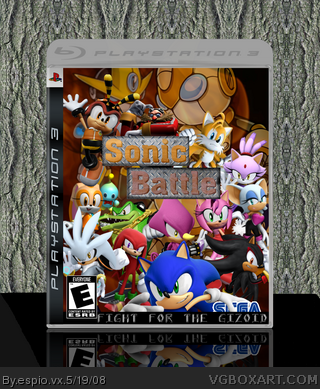 Sonic Battle: Fight for the Gizoid box art cover