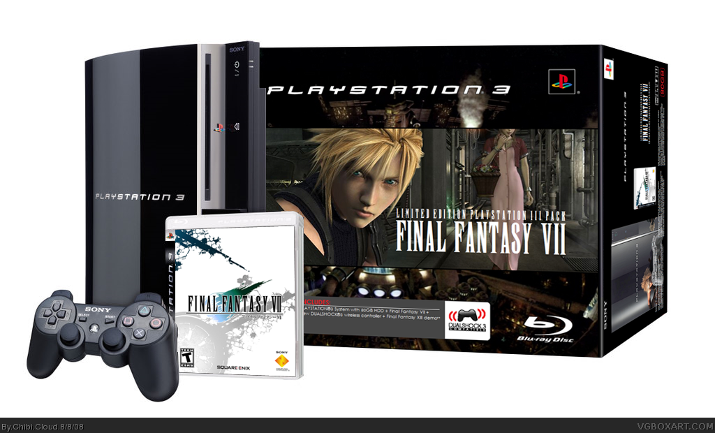 Limited Edition FFVII PS3 Bundle Pack box cover