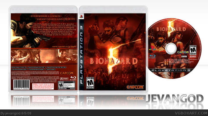 Biohazard 5 box art cover