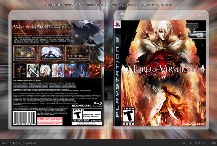 Lord of Vermilion box art cover