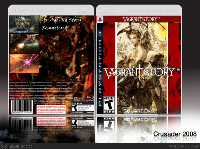 Vagrant Story box art cover