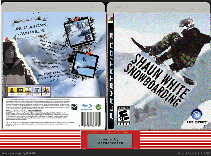 shaun whites snowboarding box art cover