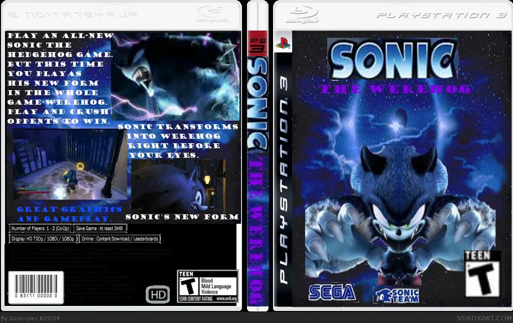 Sonic the Werehog PlayStation 3 Box Art Cover by Sonicrulez  Sonic