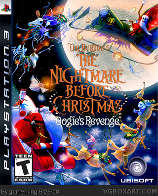 the nightmare before christmas box cover - The Nightmare Before Christmas Games