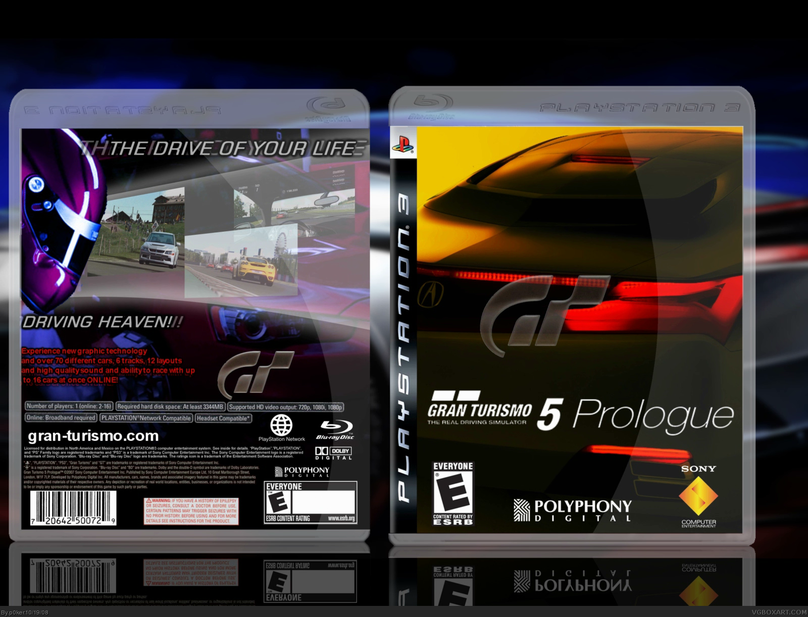 gran turismo 5 prologue playstation 3 box art cover by p0ker. Black Bedroom Furniture Sets. Home Design Ideas