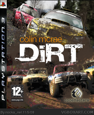colin mcrae dirt playstation 3 box art cover by nocka nel. Black Bedroom Furniture Sets. Home Design Ideas