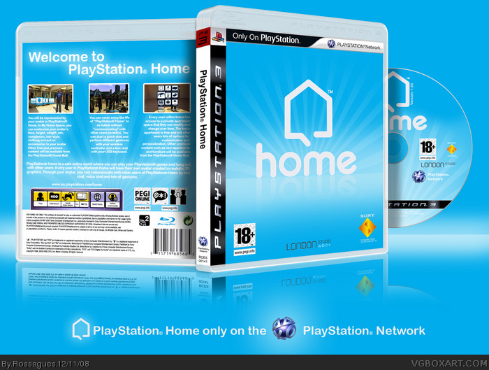 PlayStation Home PlayStation 3 Box Art Cover by Rossagues