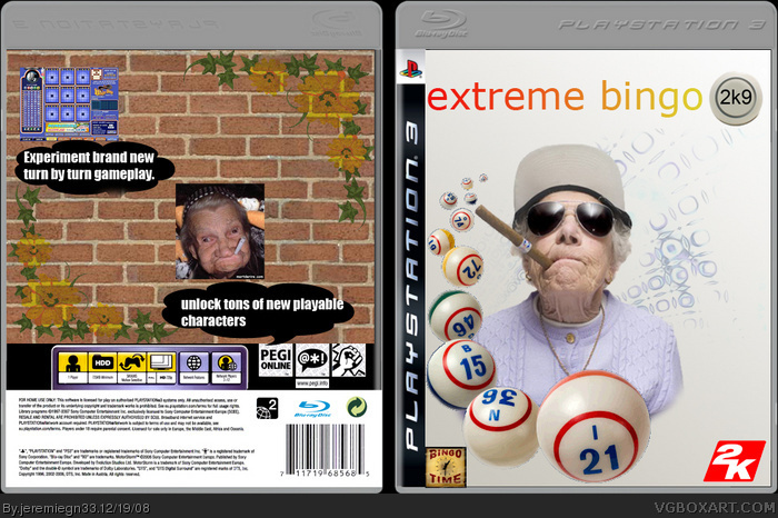 Extreme Bingo 2K9 PlayStation 3 Box Art Cover by jeremiegn33