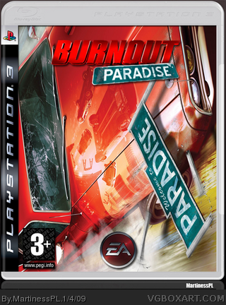 burnout paradise playstation 3 box art cover by martinesspl. Black Bedroom Furniture Sets. Home Design Ideas