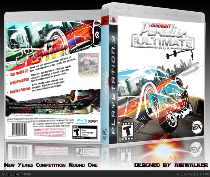 Burnout Paradise Playstation 3 Box Art Cover By Airwalker