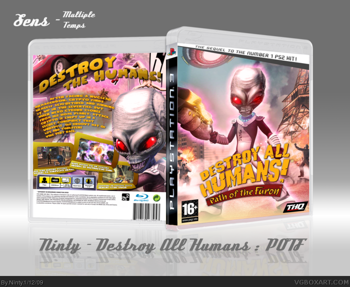 PlayStation 3 » Destroy All Humans! Path of the Furon Box Cover