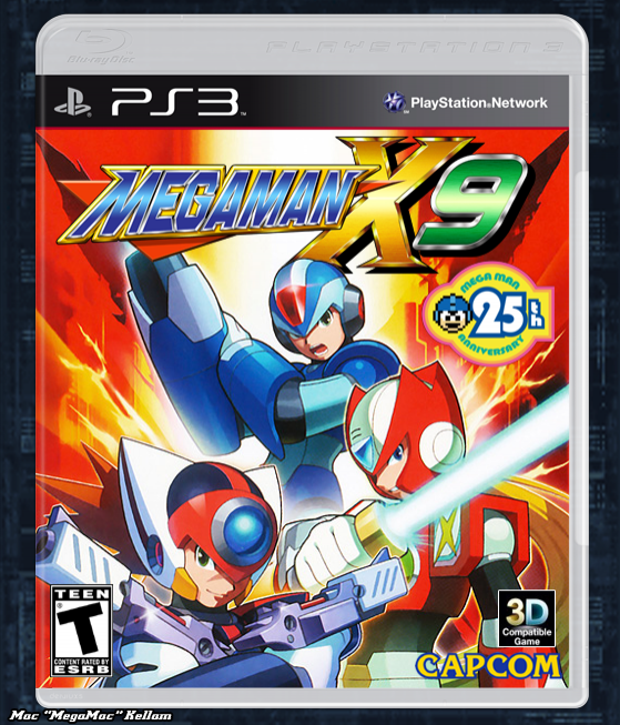 Mega Man X9 box cover
