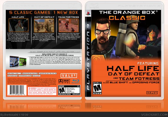 The Orange Box Classic Playstation 3 Box Art Cover By Brettska99