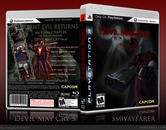 PlayStation 3 » Devil May Cry 5 Box Cover