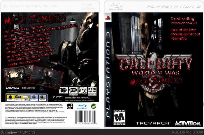 PlayStation 3 » Call of Duty World At War:Nazi Zombies Box Cover