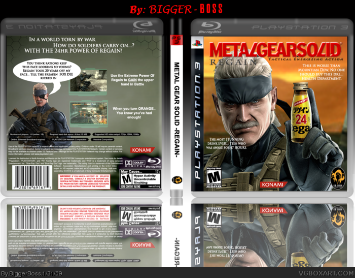 Metal Gear Solid-REGAIN- box art cover
